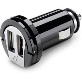 Incarcator auto Cellular Line , 2x USB , Negru
