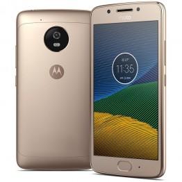 Smartphone Motorola Moto G5 Dual Sim , 5 Inch , Octa Core , 2 GB RAM , 16 GB , Retea 4G , Android Nougat , Gold