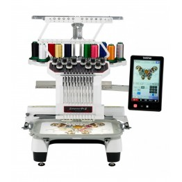 Masina de brodat computerizata Brother PR1050X , arie brodare 36 x 20 cm , 110 modele broderie , 1 cap 10 ace , Display touchscreen