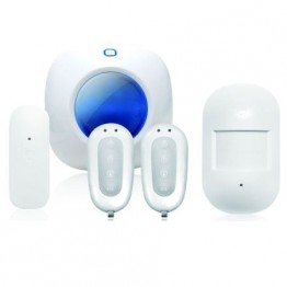 Kit smarthome Smanos S105 , Sirena SS1005 , Detector miscare MD2300 , Detector usa DS2300 , Telecomanda wireless RE2300