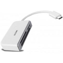 Cititor de carduri SSK USB 3.1 Alb