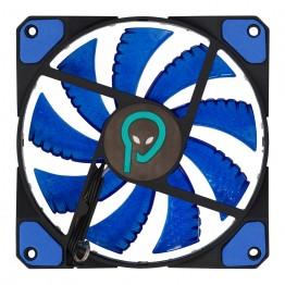 Ventilator carcasa Spacer SF12, 120 mm, LED Albastru