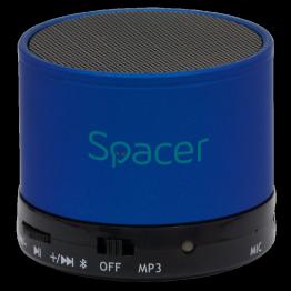 Boxa portabila Spacer Topper, Bluetooth, Putere 3W, Albastru