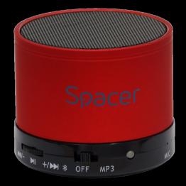 Boxa portabila Spacer Topper, Bluetooth, Putere 3W, Rosu