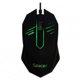 Mouse Spacer M20, 1000 DPI, Gaming, Negru