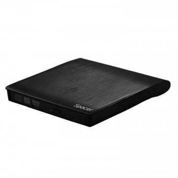 Rack unitate optica Spacer, USB 3.0, Negru