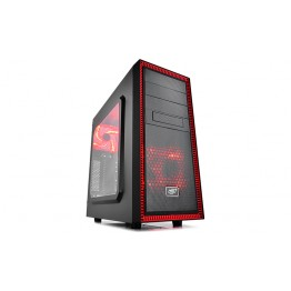 Carcasa desktop DeepCool Tesseract SW , Middle Tower , USB 3.0 , Negru/Rosu