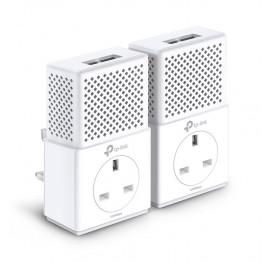 Powerline Kit TP-Link PA7020P , 2x RJ-45 , 10/100/1000 Mbps , 128 Bit AES , Alb