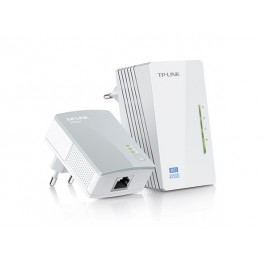Powerline TP-Link WPA4220 Kit , Adaptor si amplificator , 300 Mbps , Alb