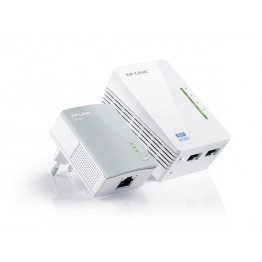 Powerline TP-Link WPA4220 Kit , Adaptor si amplificator , 300 Mbps , Alb
