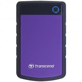 Hard disk extern Transcend StoreJet 25H3 , 2 TB , USB 3.0 , Negru/Mov