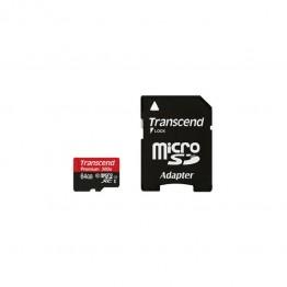 Card de memorie Transcend Premium Micro SDXC 64 GB Clasa 10 UHS-I U1 adaptor SD