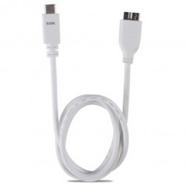 Cablu SSK microUSB 3.0 la USB 3.1 Alb