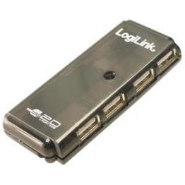 Hub USB 2.0 LogiLink UH0001A , 4x USB 2.0 , Negru