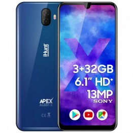 Smartphone iHunt Alien X ApeX 2020, Dual Sim, 6.1 Inch, MediaTek MTK6739V Quad Core, 3 GB RAM, 32 GB Flash, Retea 4G, Android Pie, Blue