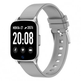 Smartwatch iHunt Watch Me 2020, 1.3 Inch, Pedometru, Masurare ritm cardiac, Compatibil iOS si Android, Gray