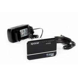 Hub USB Spacer SPH-213 , 4X USB 3.0  , Negru/Alb