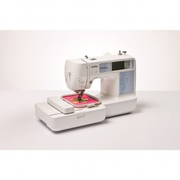 Masina de brodat computerizata Brother Innov-Is 97E , 400 impunsaturi pe minut , arie 100x100 mm , 70 de modele prestabilite , alb