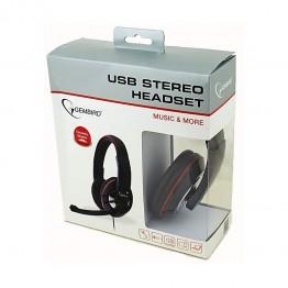 Casti audio Gembird MHS-U-001 , USB , Difuzoare 30 mm , Negru