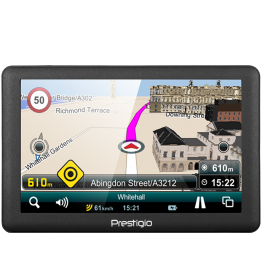 GPS Prestigio GeoVision 5066 , Display 5 inch , Mireo , Europe Full Map , Gri inchis