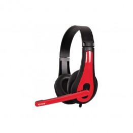 Casti audio Spacer SPK-507 , 3.5 mm Jack , Microfon , Gaming , Negru/Rosu
