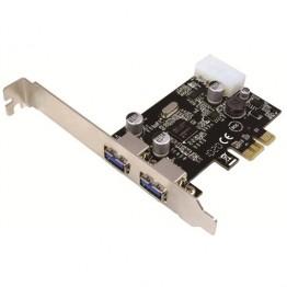Adaptor Logilink de la PCI-Express la 2x USB 3.0 si 1x Molex PC0054A