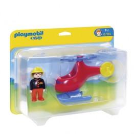 Elicopterul pompierilor Playmobil