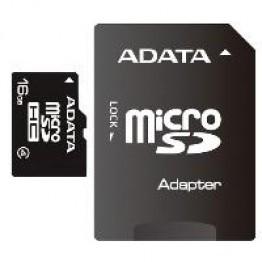 Card de memorie AData Micro SDHC 16 GB Clasa 4 adaptor SD