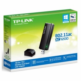 Adaptor retea wireless TP-Link Archer T4U ,  AC1200 , Dual Band , 1200 Mbps , Negru
