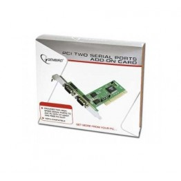 Adaptor Gembird 1x PCI Male - 2x Serial Male