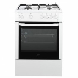 Aragaz Beko CSG62110DW, 4 arzatoare, rotisor, grill, alb