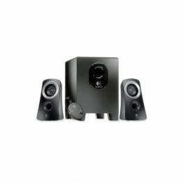 Sistem audio 2.1 Logitech Z313 , Putere RMS 25W , Telecomanda pe fir , Negru
