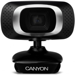 Camera web Canyon CWC3 , Full HD , CMOS 2MP , Negru