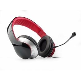 Casti audio Edifier K830 , 3.5 mm Jack , Peste cap , Microfon , Negru/Rosu