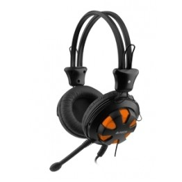 Casti audio gaming A4Tech ComfortFit HS-28-3 , 3.5 mm Jack TRS , Difuzoare 40 mm , Negru/Portocaliu