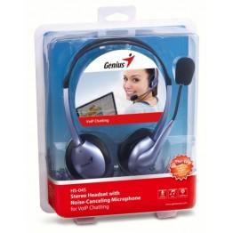 Casti audio Genius HS-04S , 3.5 mm Jack , Peste cap , Microfon , Negru/Mov