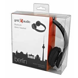 Casti audio Gembird Berlin , Bluetooth 3.0 , Fara fir , Peste cap , Negru