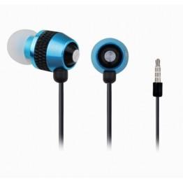 Casti audio Gembird MHS-EP-002 , 3.5 mm Jack , Intraauriculare , Negru/Albastru