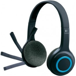 Casti audio Logitech H600 , Fara fir , USB Nano receiver , Microfon , Negru/Albastru