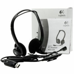 Casti Logitech PC Headset 960 , USB , Peste cap , Negru