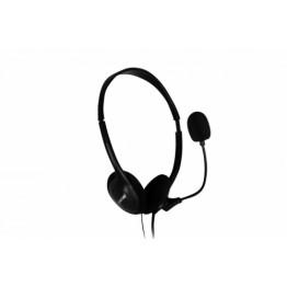 Casti audio Spacer SPK-223 , 3.5 mm Jack , Peste cap , Negru