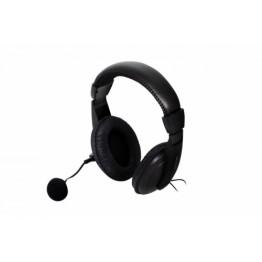 Casti audio Spacer SPK-222 , 3.5 mm Jack , Peste cap , Difuzoare 40 mm , Negru