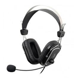 Casti audio A4Tech HS-50 , Peste cap , 3.5 mm Jack , Microfon , Negru