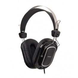 Casti audio A4Tech HS-200 , 3.5 mm Jack , Peste cap , Microfon , Negru