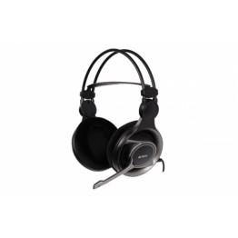 Casti audio gaming A4Tech HS-100 , 3.5 mm Jack , Peste cap , Microfon , Negru