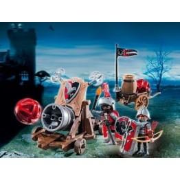 Cavalerii Soim cu tun de batalie Playmobil