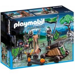 Cavaleri lupi cu catapulta Playmobil