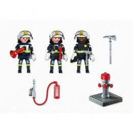 Echipa de pompieri Playmobil