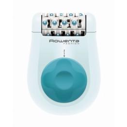 Epilator Rowenta EP1025F5, 24 pensete, 2 viteze, functie masaj, cu fir, alimentare la retea, culoare:alb/albastru.