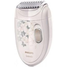 Epilator Philips Satinelle HP6423/00, 2 viteze, discuri metalice, 20 puncte de prindere, cap de ras, alb
